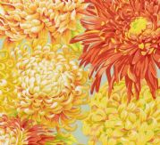 Kaffe Fassett Japanese Chrysanthemum Yellow fabric - per quarter metre